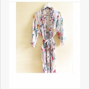 Floral morning robe